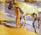 Del Canvas Paintings - El bano del caballo [The Horse's Bath]